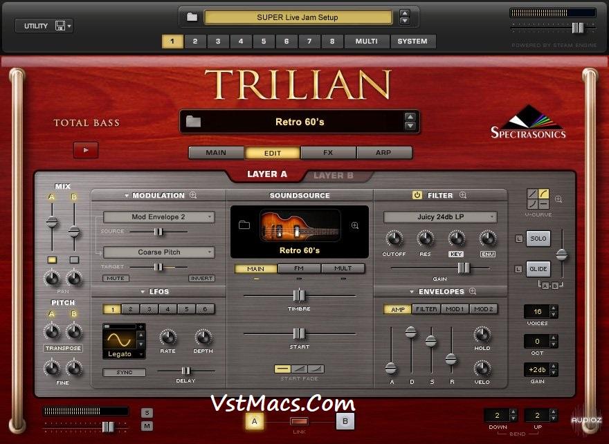 Spectrasonics Trilian 1.5 VST Crack