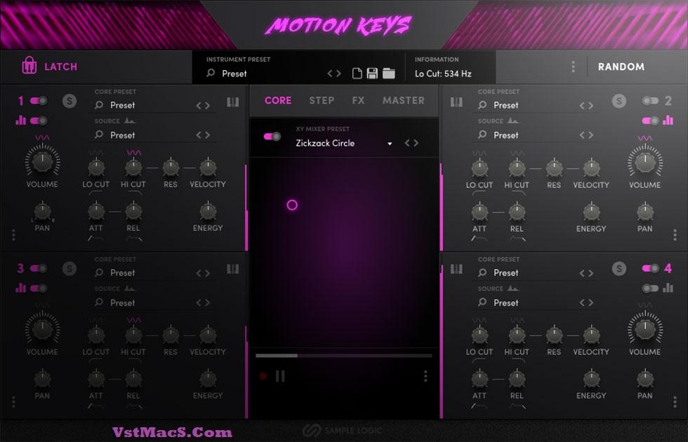 Sample Logic Motion Keys